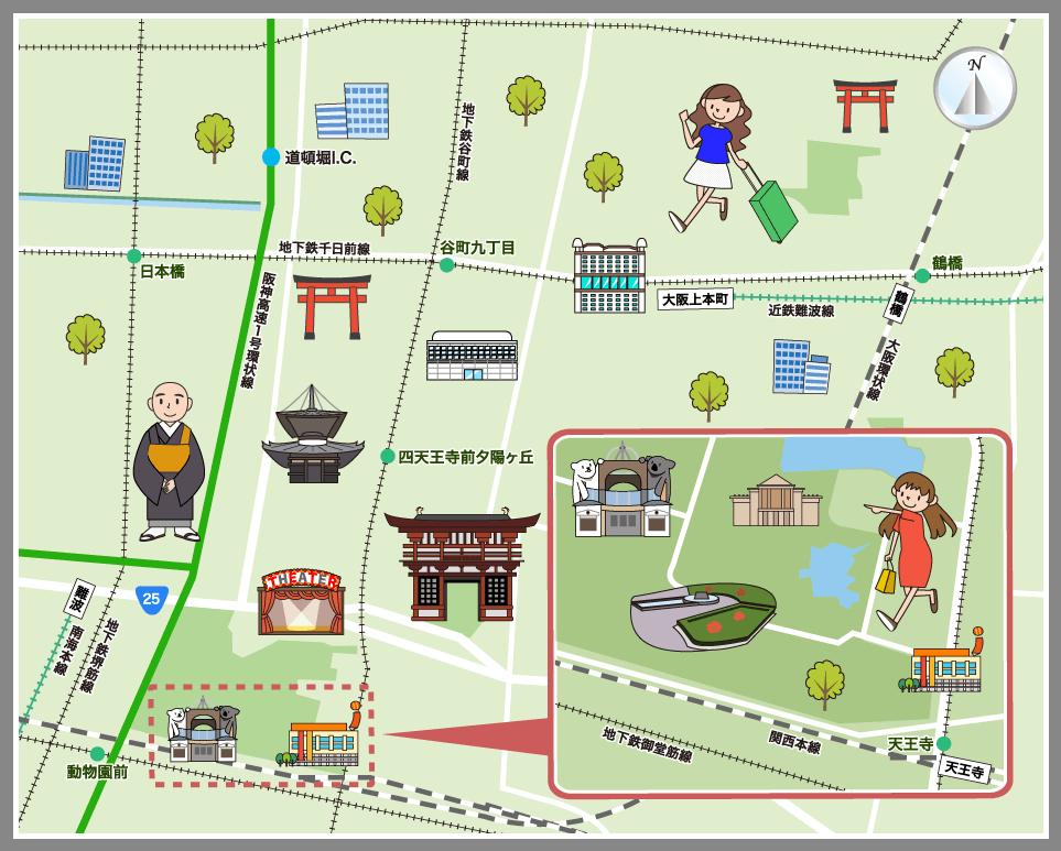 ホームメイト・リサーチ】大阪市天王寺区の観光マップ・レジャーマップ